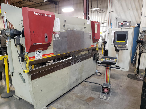 130 Ton x 10' Accurpress 713010 CNC Press Brake, 2004 - Accurpress ETS 3000 Control