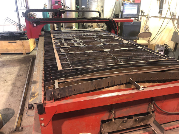 5'x10' Dynatorch XLR8 HF CNC Plasma Table, 2014 - Fanuc 18-T Control, Dust Collector