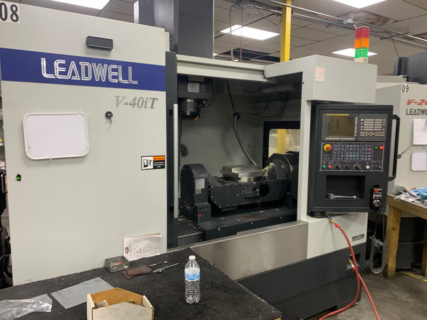 Leadwell V40iT VMC, 2016 - 5 Axis, Fanuc Control, Low Hours, Video Available