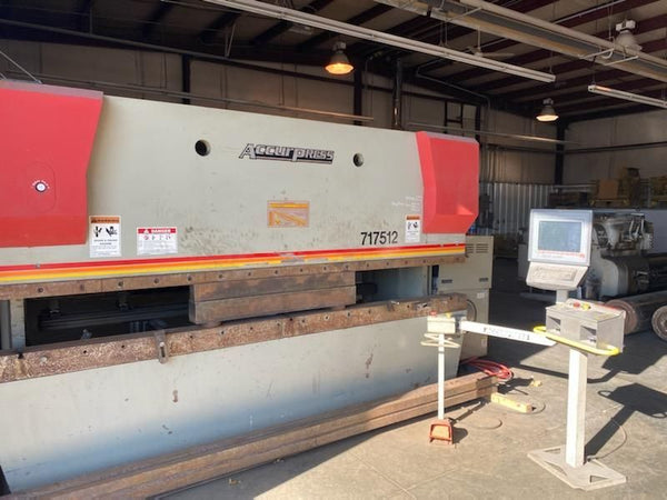 175 Ton X 12' Accurpress Advantage 717512 CNC Press Brake, 2006 - ETS 3000 Control, Low Hours
