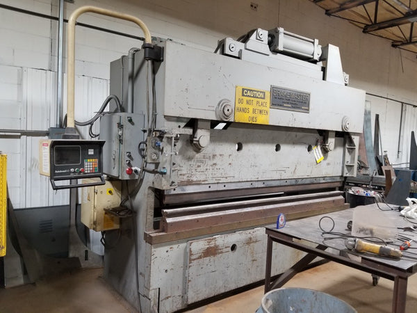 200 Ton X 10' Brakemaster 20010 Hydraulic Press Brake, Underpower