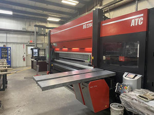 247 Ton x 14' Amada HG 2204 ATC CNC Press Brake, 2016- 8 Axis Backgauge, 100K In Tooling
