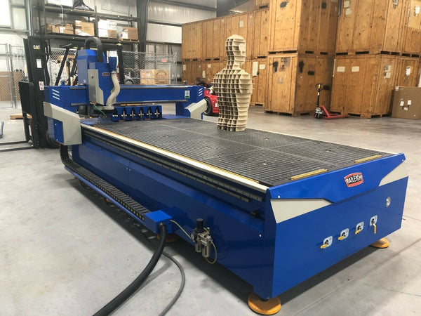 5' x 10' Baileigh WR-105V-ATC CNC Router, 2017 - Automatic Tool Changer, Air Cooled Spindle, BobCAD Ready