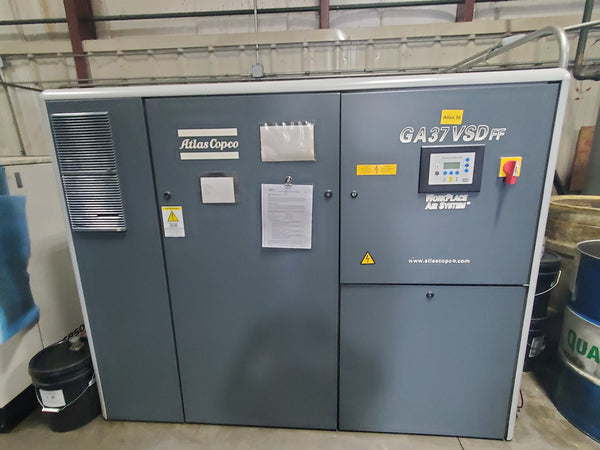 Atlas Copco GA 37VSD FF Air Compressor, 2002