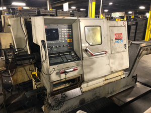Traub TNC30 DGY CNC Lathe, 1998 - Bar Feeder, Chip Conveyor