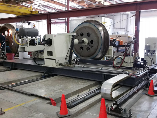 "250"" MJC CNC Dome Spin Forming Machine, 2014 - Robotic Torch System, CNC Back Up Plate"