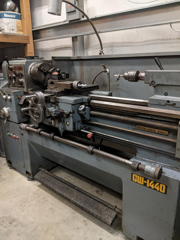 Goodway GW-1440 Gap Bed Engine Lathe, 1990 - Never Used in Production