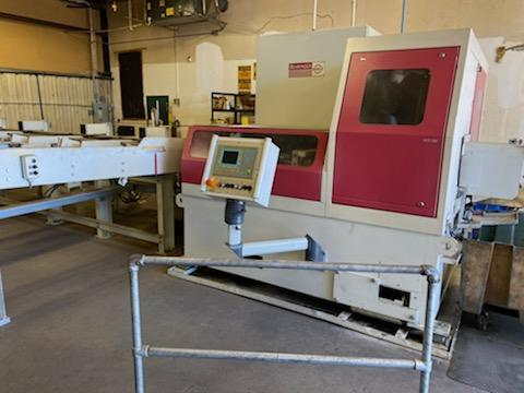 "6"" Behringer HCS 160 CNC Automatic Carbide Circular Cold Saw, 2012- Equipped With Transfer Conveyor, Very Light Use"