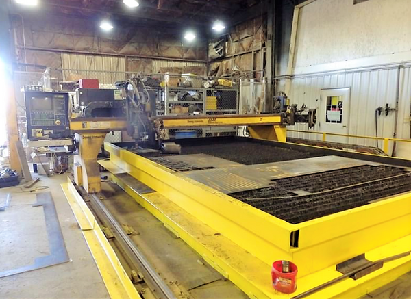 10.5' x 18' Esab Avenger 1 CM-300-12 CNC Plasma Table, 1994- 600 Amp, Spare Power Supply, Under Power