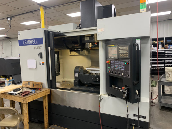 LEADWELL V40IT 5 AXIS VMC 2016 - INTEGRATED TRUNNION, LOW HOURS, VIDEO