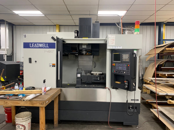 Leadwell V40iT VMC, 2016 - 5 Axis,Chip Conveyor, Low Hours, Video Available