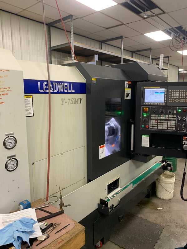 Leadwell T-7SMY Multi Axis Lathe, 2018 - Live Tooling, Sub Spindle, Video Available, Low Hours