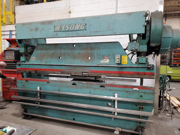 55 Ton X 10' Wysong 55-8 Mechanical Press Brake, Tooling included