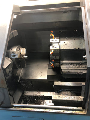 Mazak Quick Turn 20 Lathe, 1998 - Chip Conveyor, Tailstock