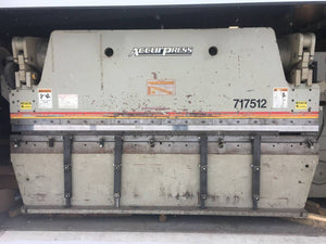 1999 Accurpress 175 Ton X 12ft Press Brake, Under Power! Video!