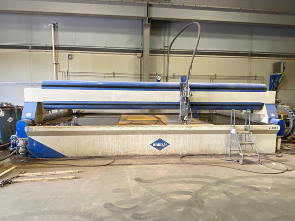 10' x 20' Wardjet Z-3064 Waterjet, 2018- Hypertherm 60,000 PSI