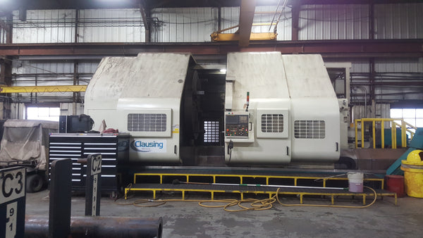 "Clausing CK104122-TT CNC Lathe, 2008- 104"" x 122"" W/ Extended Carriage & Dual Turrets"