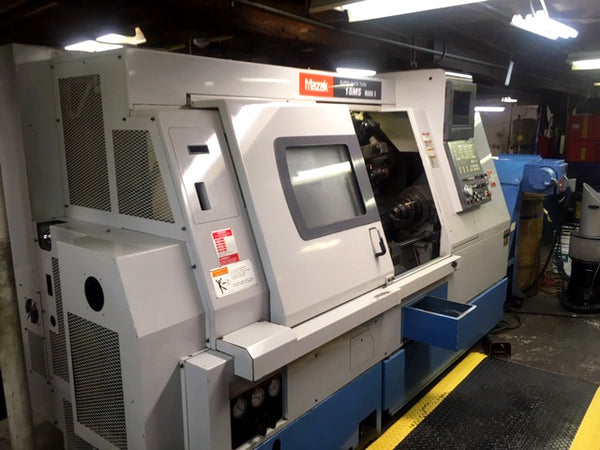 1997 Mazak SQT 18MS CNC Lathe with Sub-Spindle & Live Tooling
