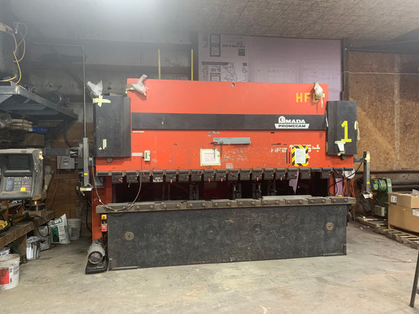 138 Ton x 14' Amada Promecam HFBO-125-40 CNC Press Brake, 1999- 8-Axis
