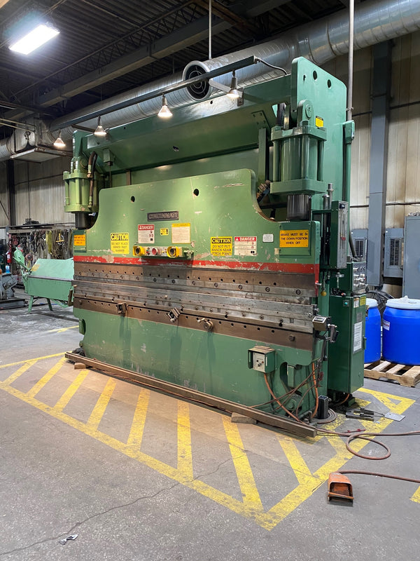 175 Ton X 12' Cincinnati 175CB Press Brake, 1987- with tooling and manual crowning