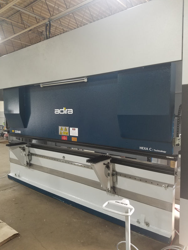 247 Ton X 13' Adira PF 22040 CNC Servo-Hydraulic Press Brake, 2017- 5 Axis Back Gauge, Demo Machine