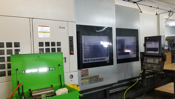 Okuma Multus U4000 2SW2000 Multitasking CNC Lathe W/ Milling Head, 2014- Big Bore, Sub Spindle, Lower Turret, 60 tool ATC