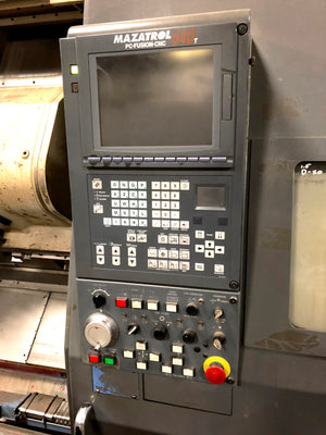"2002 Mazak ST-450 CNC Lathe, 10.25"" Spindle Bore, Chip Conveyor, Tooling Included"