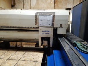 3000 Watt Trumpf Trumatic L2530 CO2 Laser, 2000 - 4' X 8' Table, Dual Pallets