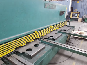 "Wysong H-2510 Power Squaring Shear- 1/4"" x 10ft, w/ PC100 CNC Backgauge"
