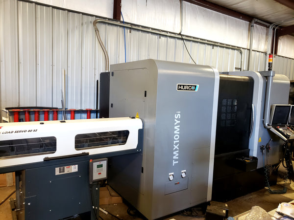 2018 Hurco TMX10MYSi CNC Lathe w/ LNS Quick Load Servo 80 S2 Bar Feeder, Y-Axis, Sub-Spindle, Live Tooling