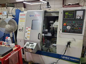 2006 Doosan Lynx 220 CNC Lathe - Tooling Available, Fanuc control