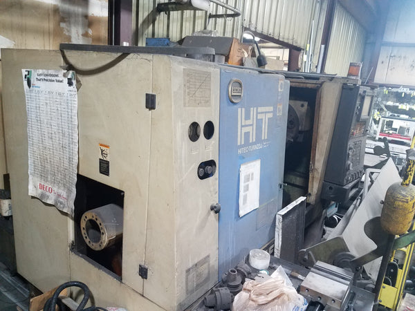 "Hitachi Seiki HT-23J Two-Axis CNC Turning Center, 1998, 17.7"" Swing, 23.6"" Centers"