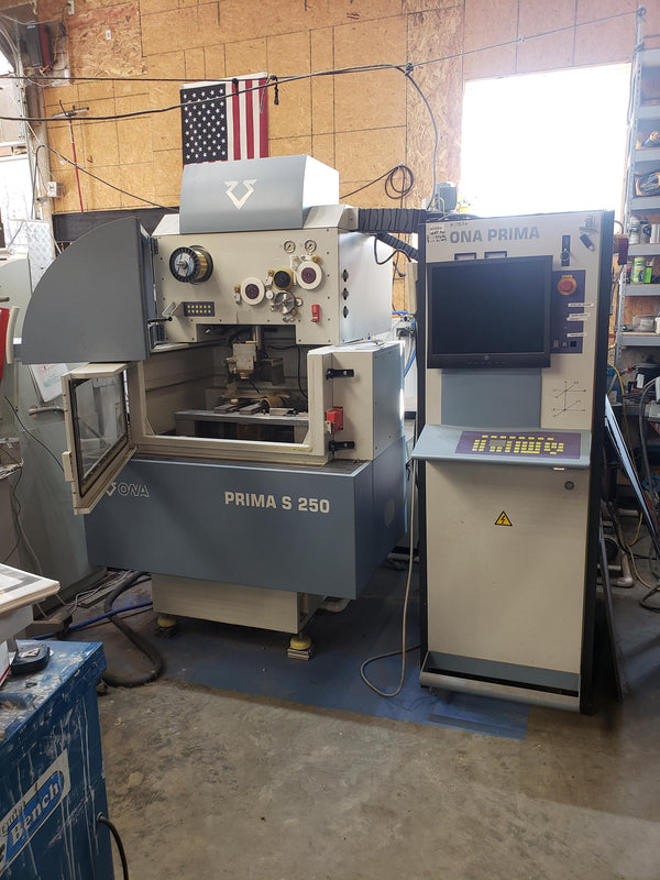 ONA Prima S 250 Wire EDM, 2001, CNC - Low Hours
