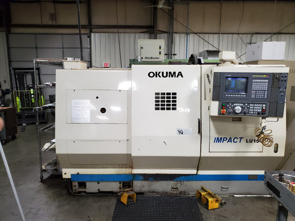 Okuma LU-15-2SC/600 CNC Turning Center 4 Axis, 1995 - W/Tailstock, OSP 5020L Control