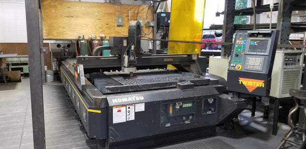 5'x10' Komatsu Twister TFP 3051 CNC Plasma Table, 2008 - Fanuc 21-M Control, Dust Collector