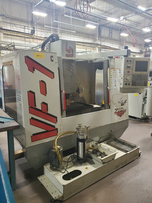 Haas VF-1 VMC, 1998 - 4th Axis Wired, P-cool, Chip Auger