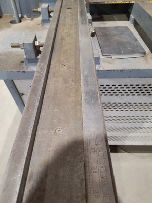 "1/2"" x 10' Haco HSLX 3013 Shear, 2001 - Squaring Arm Included"