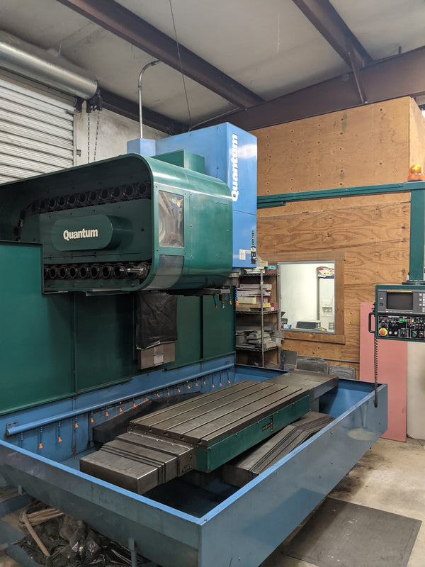 Kasuga Quantum Q-1000V CNC Mill, 1997 - Coolant Thru Ready, Chip Conveyor, 30-Tool Changer