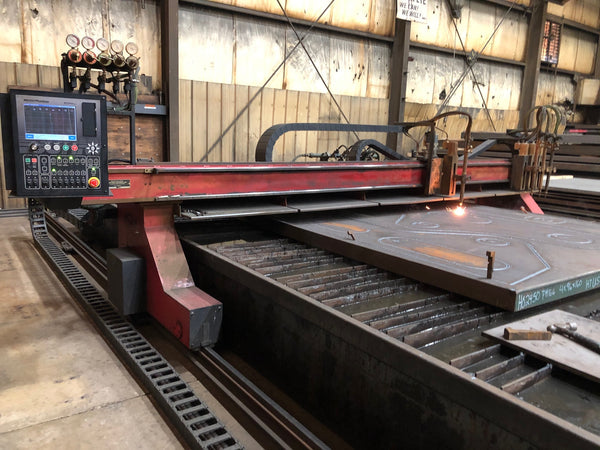 12' X 40' Cutting Systems Saber Cut OxyFuel CNC Cutting Machine, 2010- Water Table