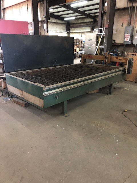 Vicon 8000 Dual Twin Drive 5' x 10' Plasma Table, 2000 - With HyperthermMax100 Plasma Cutting System