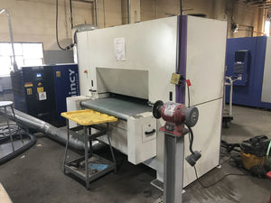 NS Maquinas DM1100C Edge Rounding Machine, 2017- With Wet Dust Collector, Very Light Usage