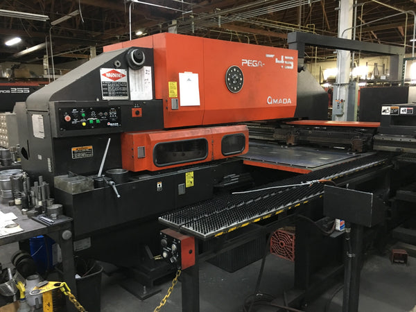 33 Ton Amada Pega 345 Queen CNC Turret Punch with Auto Loader