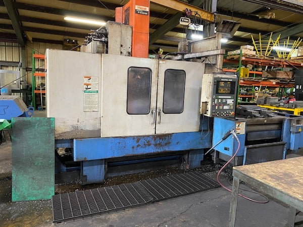 Mazak MTV-515/40 VMC, 1996 - Through Spindle Coolant, Through Spindle Air Blast, Pallet Changer