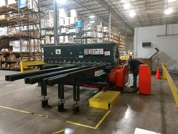 "1/4"" x 10' Amada M-3060 CNC Shear, 1987- Rear Conveyor Stacking System (Optional)"