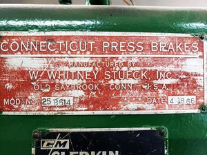 Whitney Stueck 25 Ton x 6' Press Brake