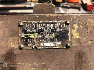 Chicago 14 Ga. x 8' Manual Press Brake