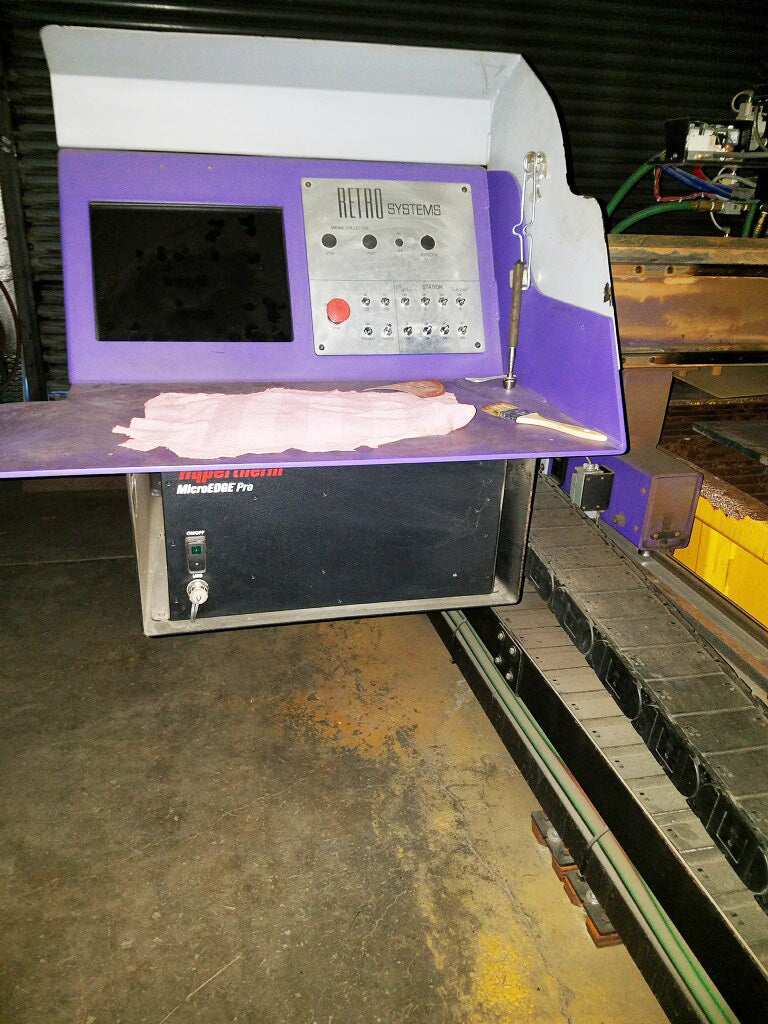 2012 Hornet Xd 8 X 20 Cnc Plasma Cutter With Bladder Water Table