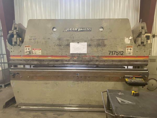 175 Ton x 12' Accurpress 717512 CNC Press Brake, 2005 - 3-Axis Ets 200 Control, Video Available