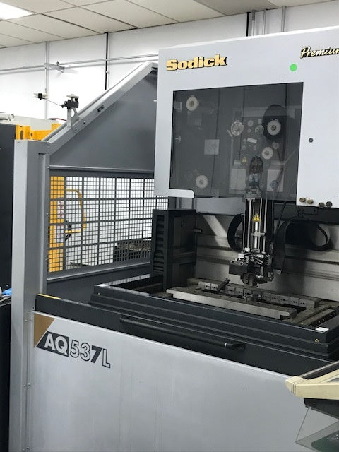 Sodick AQ537L 5-Axis Wire EDM, 2008 - Auto Wire Threading, Jumbo Feeder