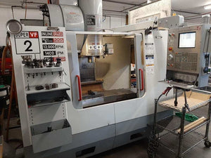 Haas VF-2SS VMC, 2005 - TSC, 4th Drive and Wire, 12,000 RPM, Pallet Changer